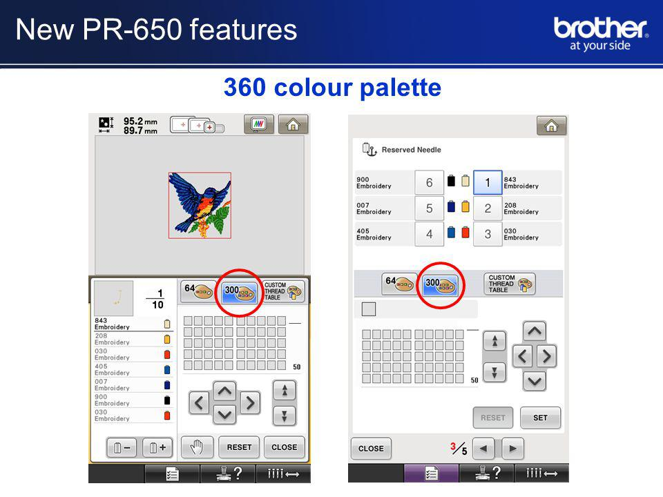 360 colour palette New PR-650 features