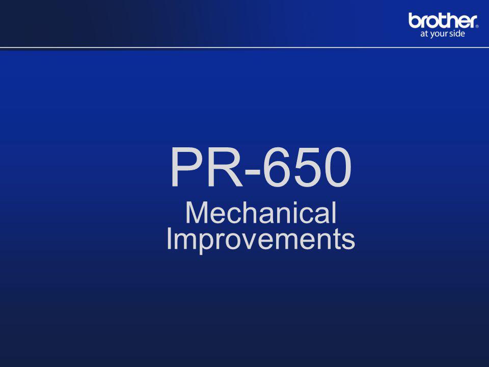 PR-650 Mechanical Improvements