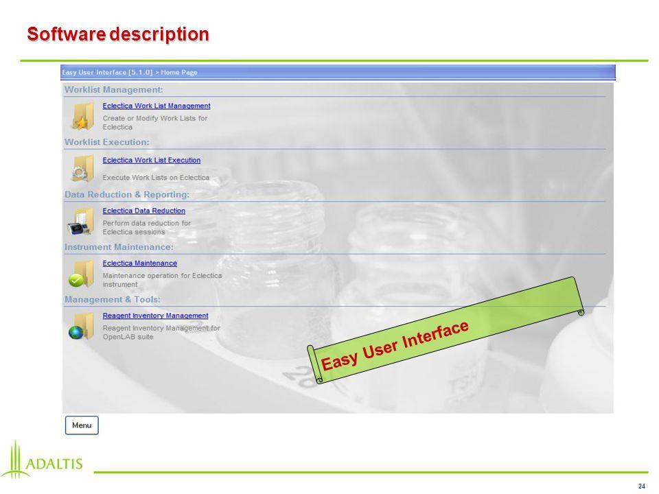 24 Software description Easy User Interface