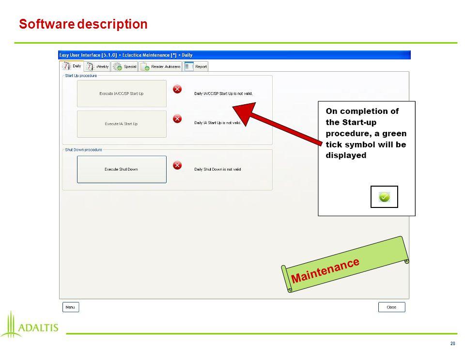 28 Software description Maintenance