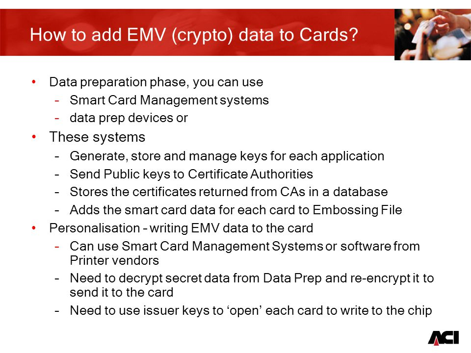 17 How to add EMV (crypto) data to Cards.