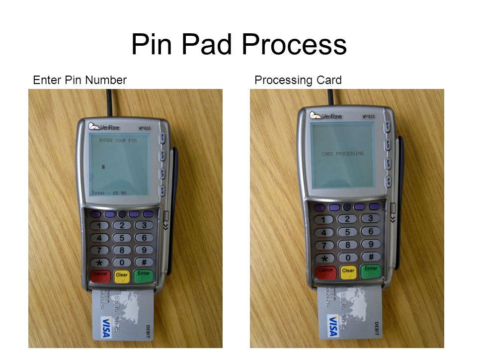 Pin Pad Process Enter Pin NumberProcessing Card