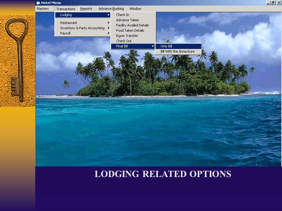 LODGING RELATED OPTIONS