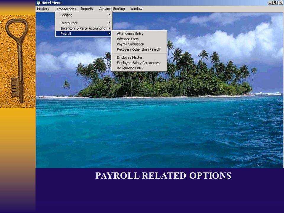 PAYROLL RELATED OPTIONS