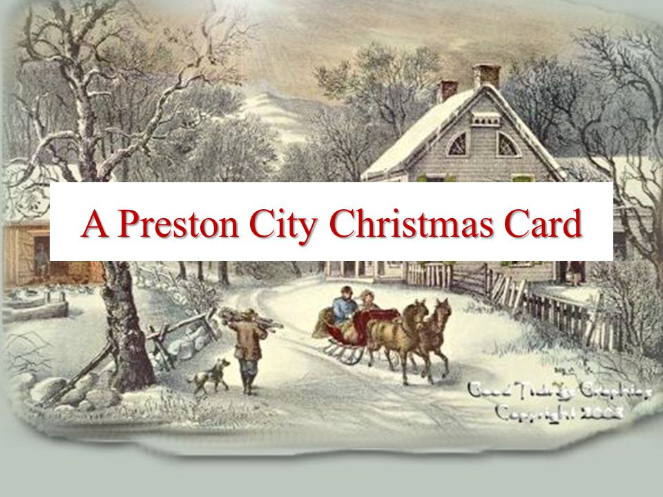 A Preston City Christmas Card