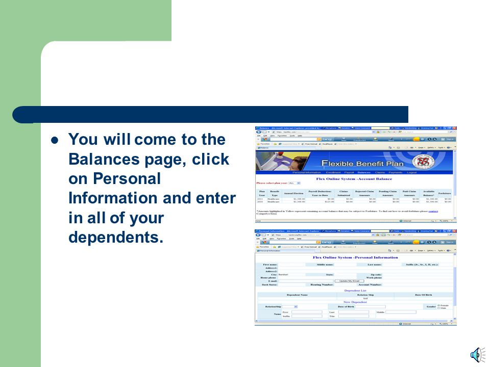 To File an Online Claim Log on to the lcpsflex.com website. Click on My Account, and then enter your Employee PID issued by Loudoun County, and the PI
