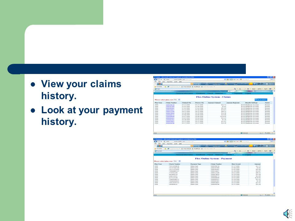 What else can I do on the website? In addition to filing a claim, you can view your balance. Look at all of your payroll deductions.