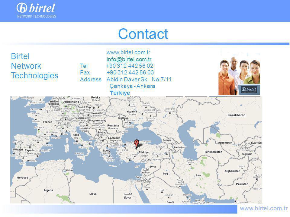 www.birtel.com.tr Contact www.birtel.com.tr info@birtel.com.tr Tel +90 312 442 56 02 Fax +90 312 442 56 03 Address Abidin Daver Sk. No:7/11 Çankaya -