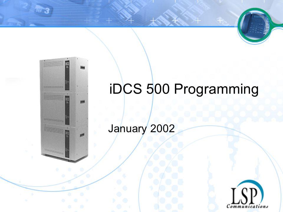 iDCS 500 Programming January 2002