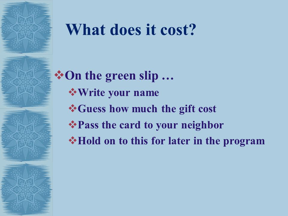 What does it cost.