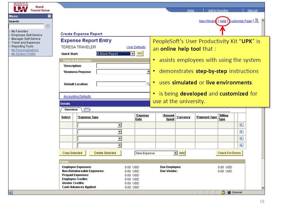 Click on the My UW Services Tab 17 Select e-Reimbursement - Use It