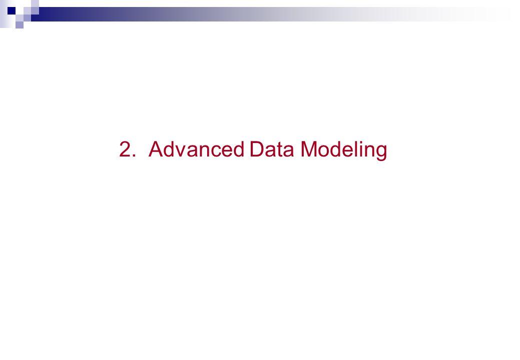2. Advanced Data Modeling