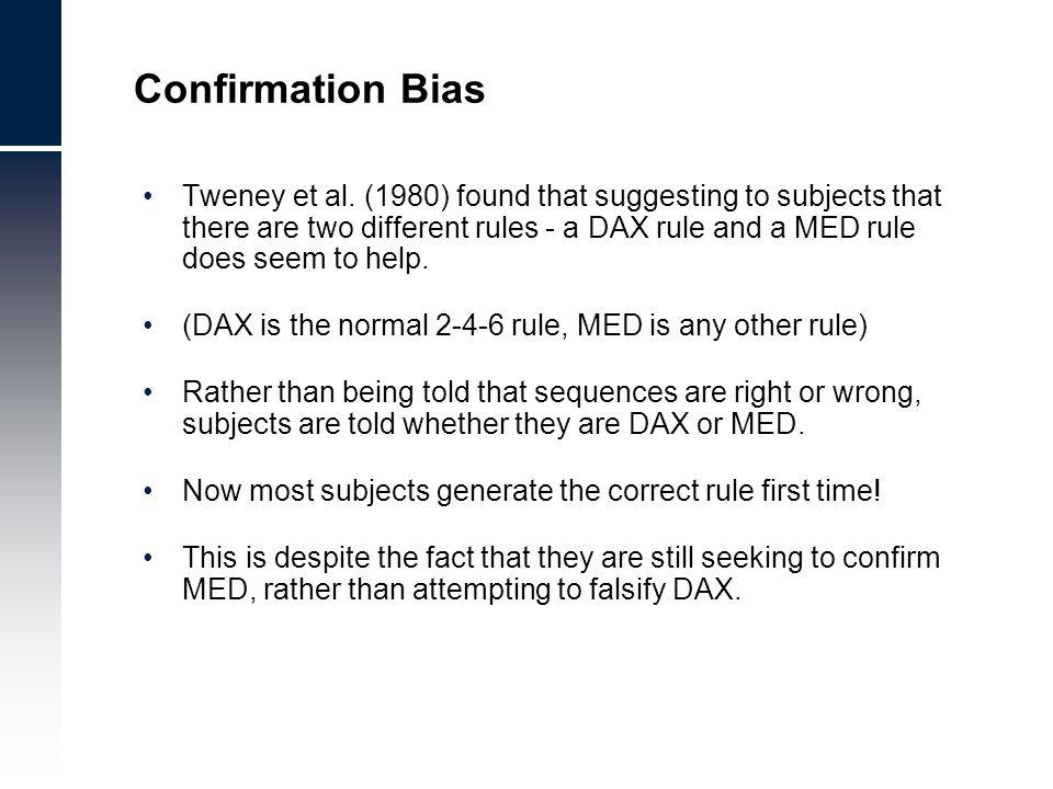 Confirmation Bias Tweney et al.
