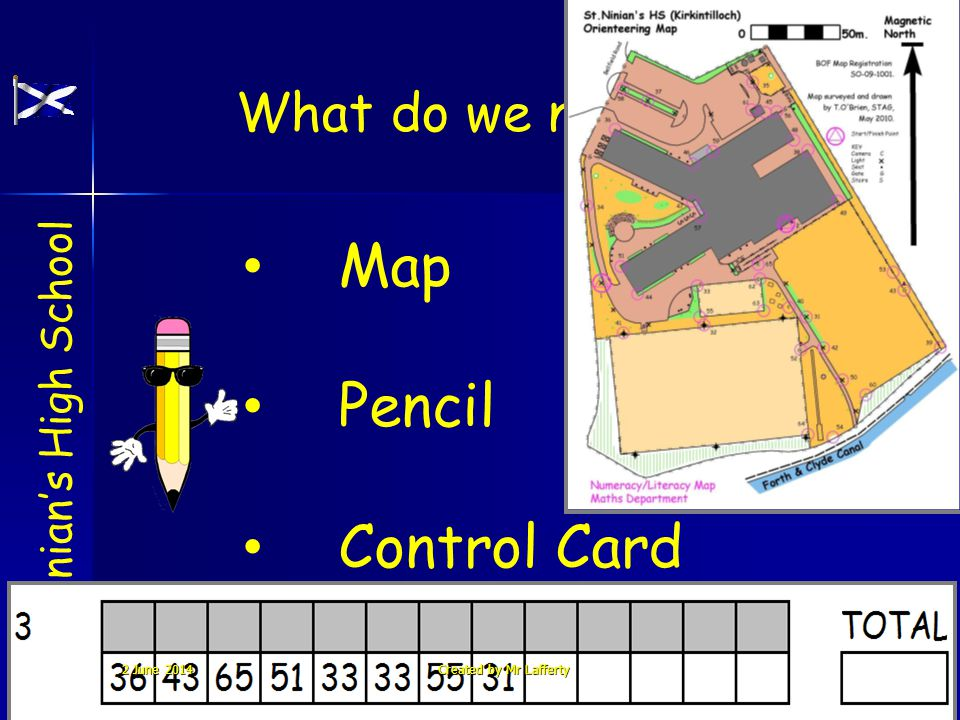 Map Pencil Control Card What do we need ? St. Ninians High School 65 T 2 June 20142 June 20142 June 2014Created by Mr Lafferty