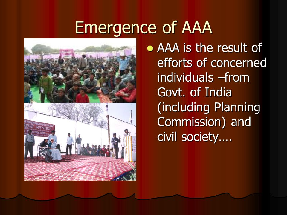 Scenerio At Delhi Before AAA- year 2000 Before AAA…….contd.
