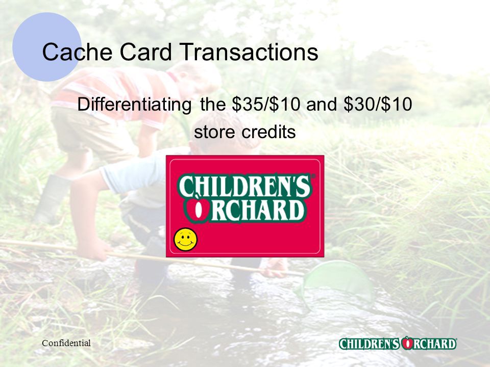 Confidential Cache Card Transactions Recycle your Cache Cards!
