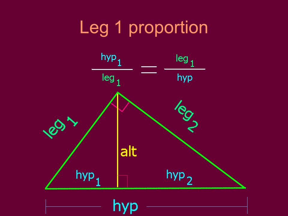 Leg 1 proportion