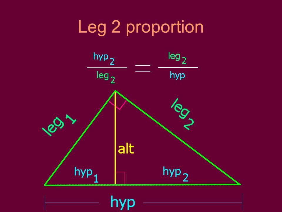 Leg 2 proportion