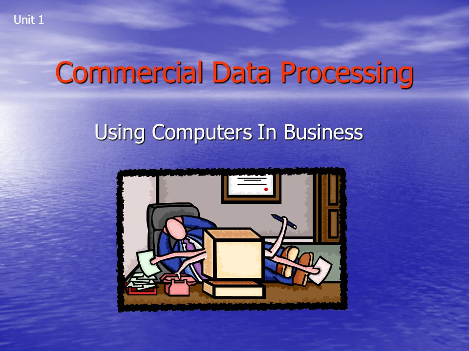 Commercial Data Processing Using Computers In Business Unit 1