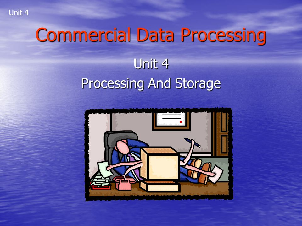 Commercial Data Processing Unit 4 Processing And Storage Unit 4
