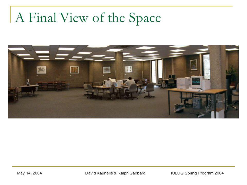 May 14, 2004David Kaunelis & Ralph Gabbard IOLUG Spring Program 2004 A Final View of the Space