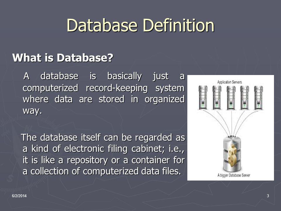 6/2/201414 File systems vs.a DBMS File System DBMS 1.