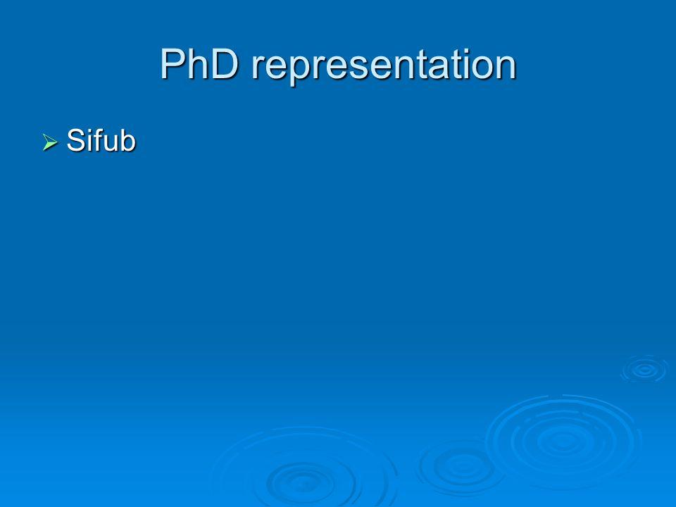 PhD representation Sifub Sifub