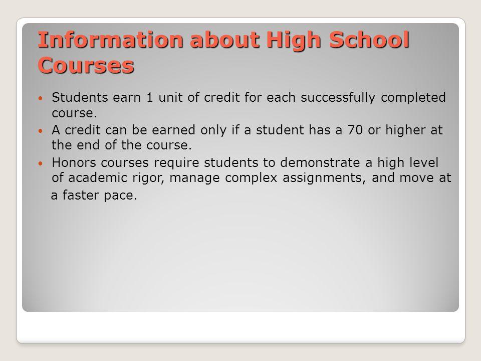 Class Schedule In high school classes are arrange by using a 4X4 block schedule.