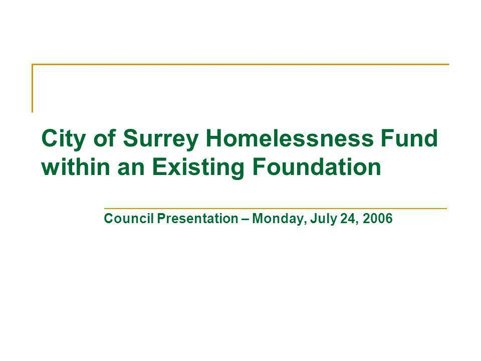 Background Surrey has seen a significant increase in homelessness.