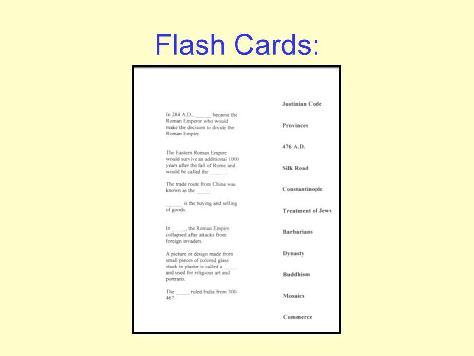 Flash Cards: