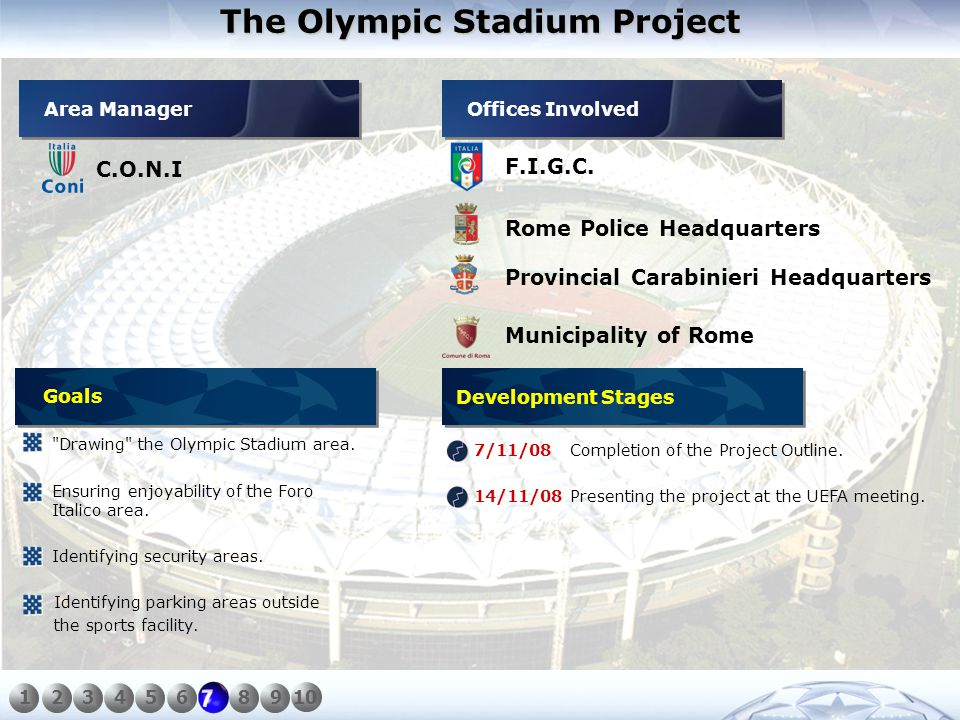The Olympic Stadium Project C.O.N.I F.I.G.C.