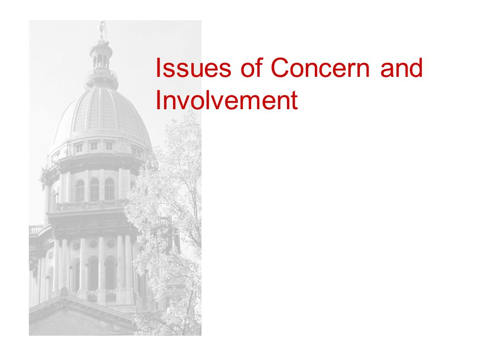 Issues of Concern and Involvement