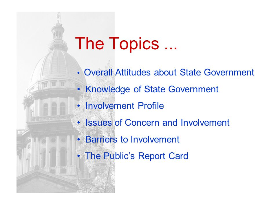 The Topics...