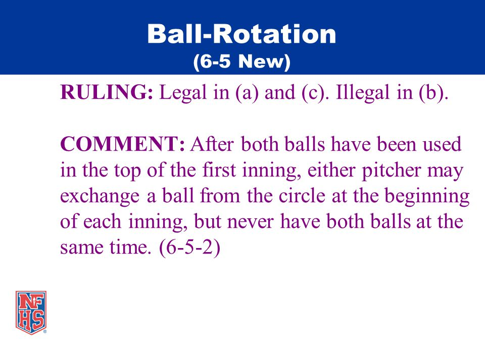Ball-Rotation (6-5 New) RULING: Legal in (a) and (c).