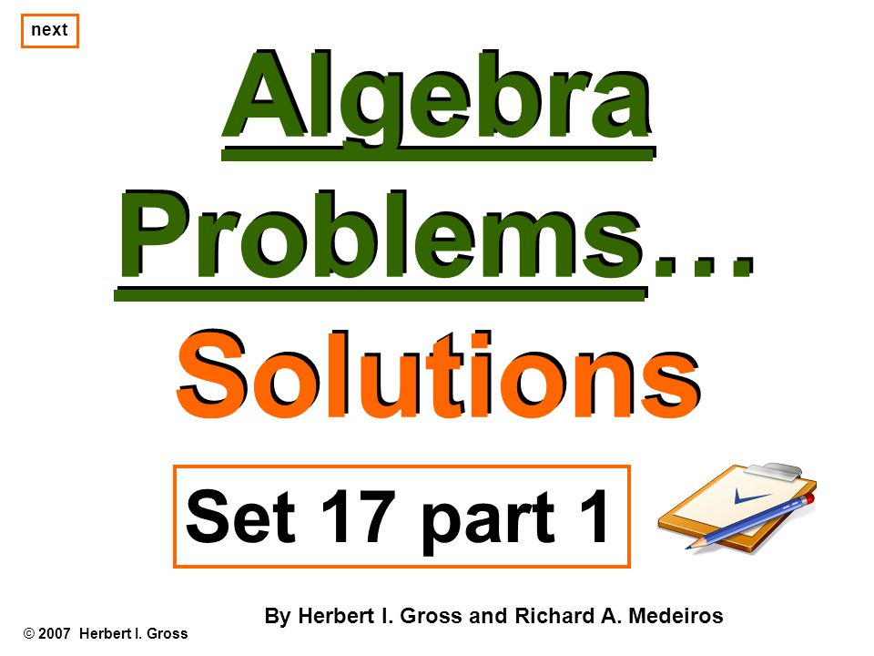 Notes on #2a For example, if we let x = 5 and y = 3, then equation z = 9 – x – y tells us that… © 2007 Herbert I.