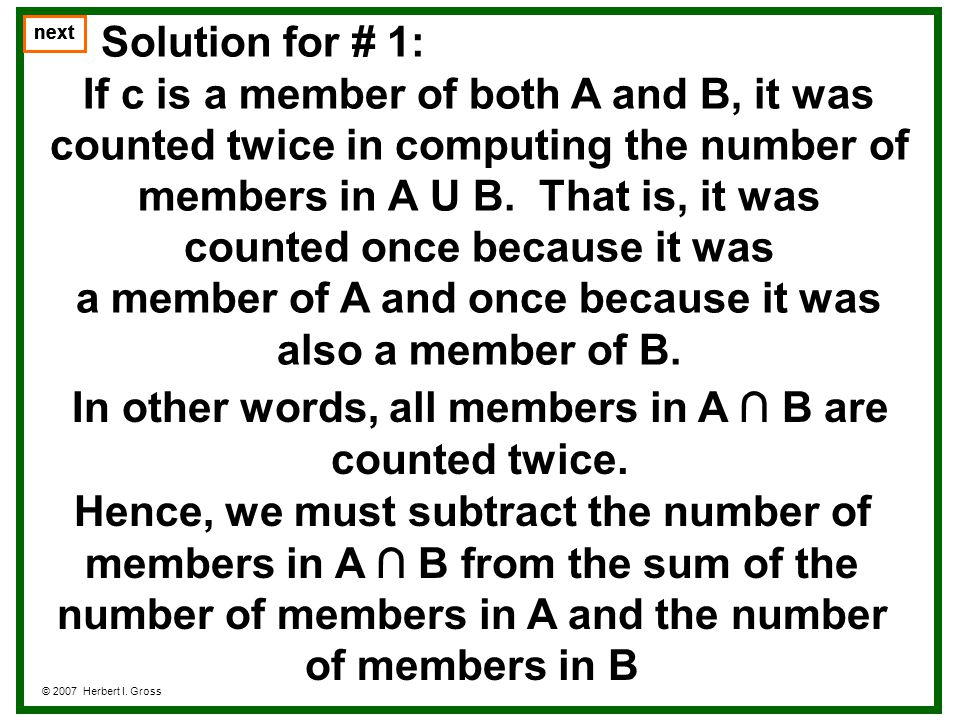 Notes on #1 For example, we may use 1 to indicate that a member belongs to a set and 0 to indicate that it doesnt.