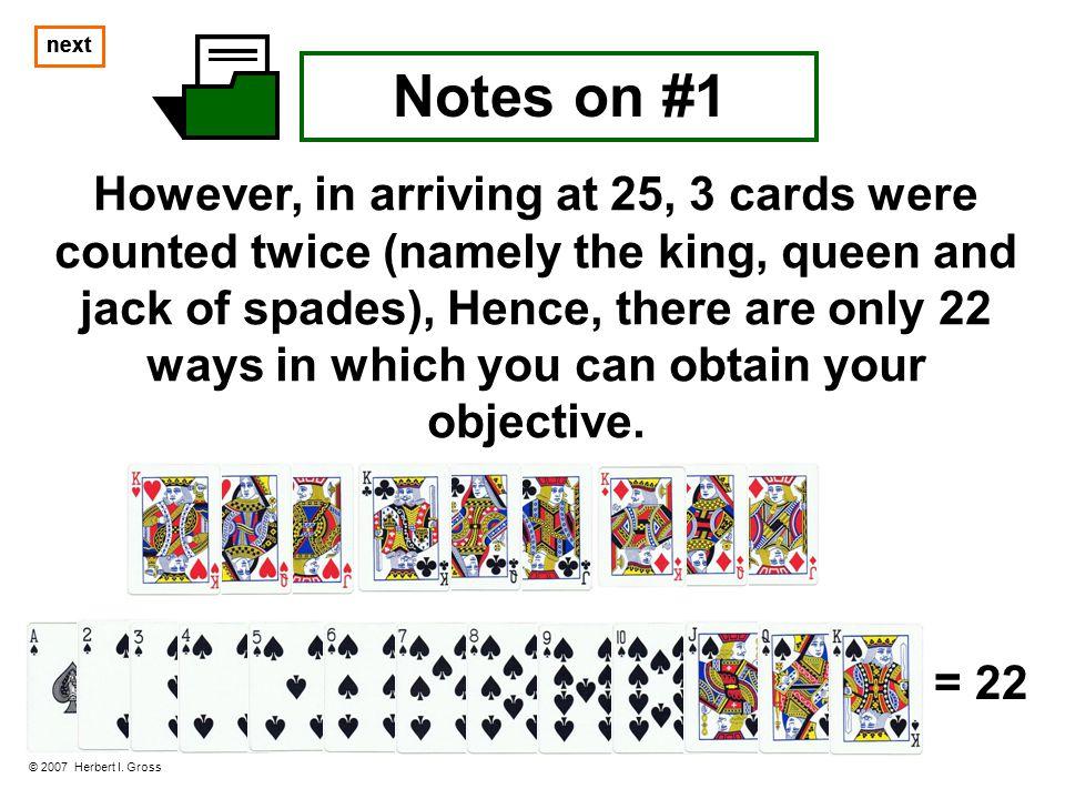 Notes on #1 © 2007 Herbert I.