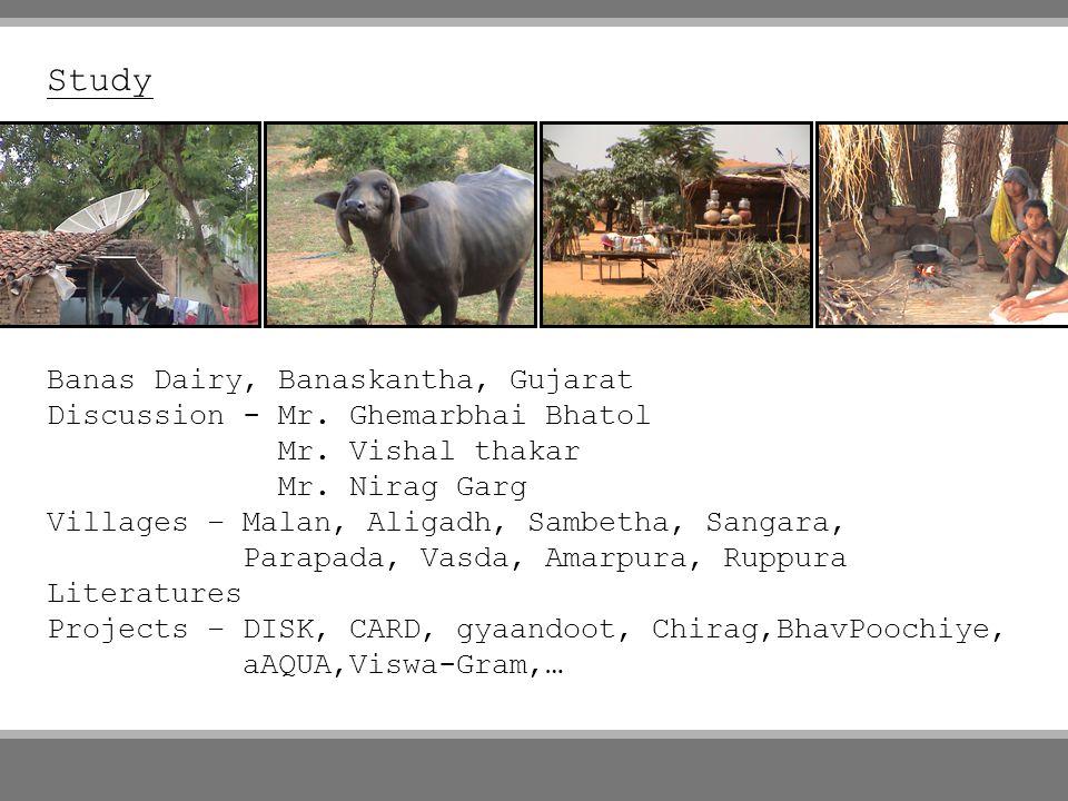 Study Banas Dairy, Banaskantha, Gujarat Discussion - Mr.