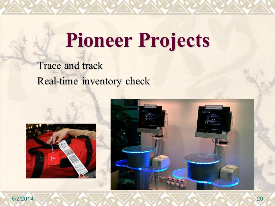 Pioneer Projects Trace and track Real-time inventory check 6/2/201420