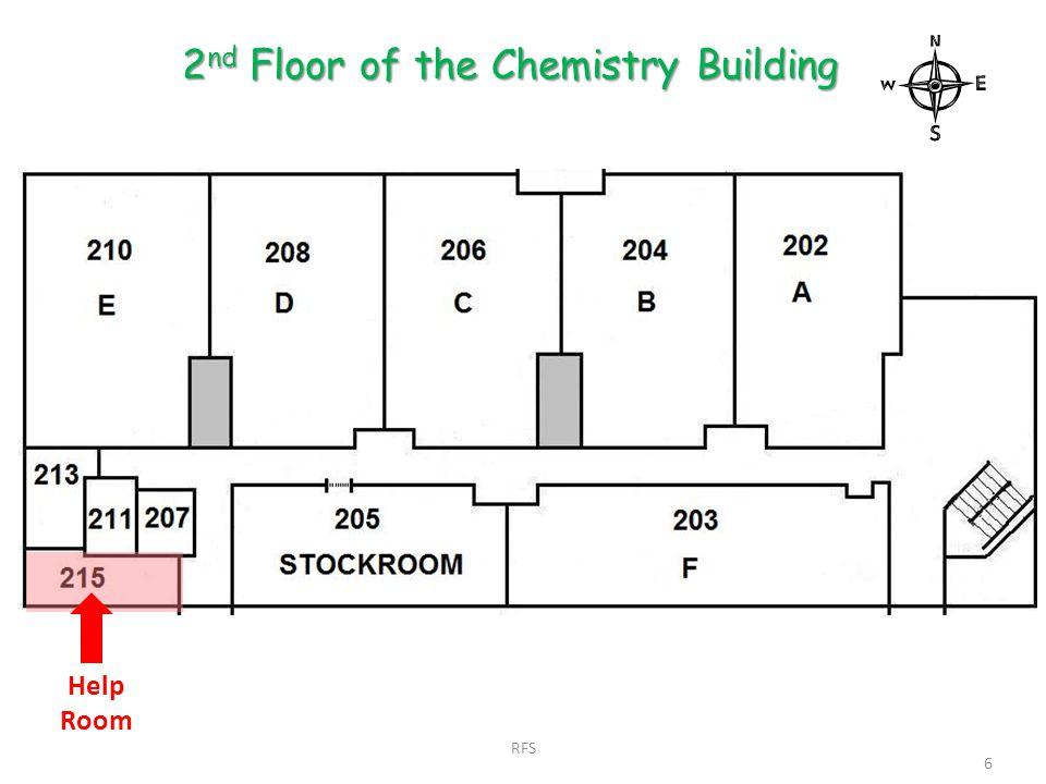 Help Room 2 nd Floor of the Chemistry Building 6 RFS