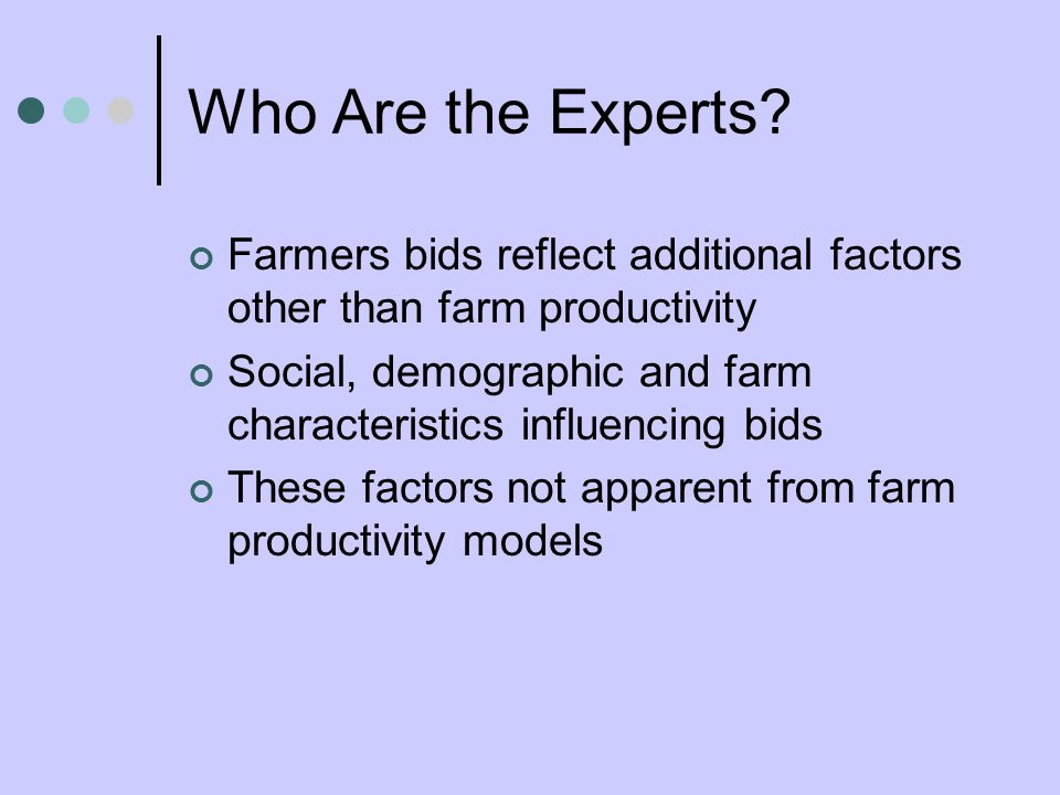 Who Are the Experts.