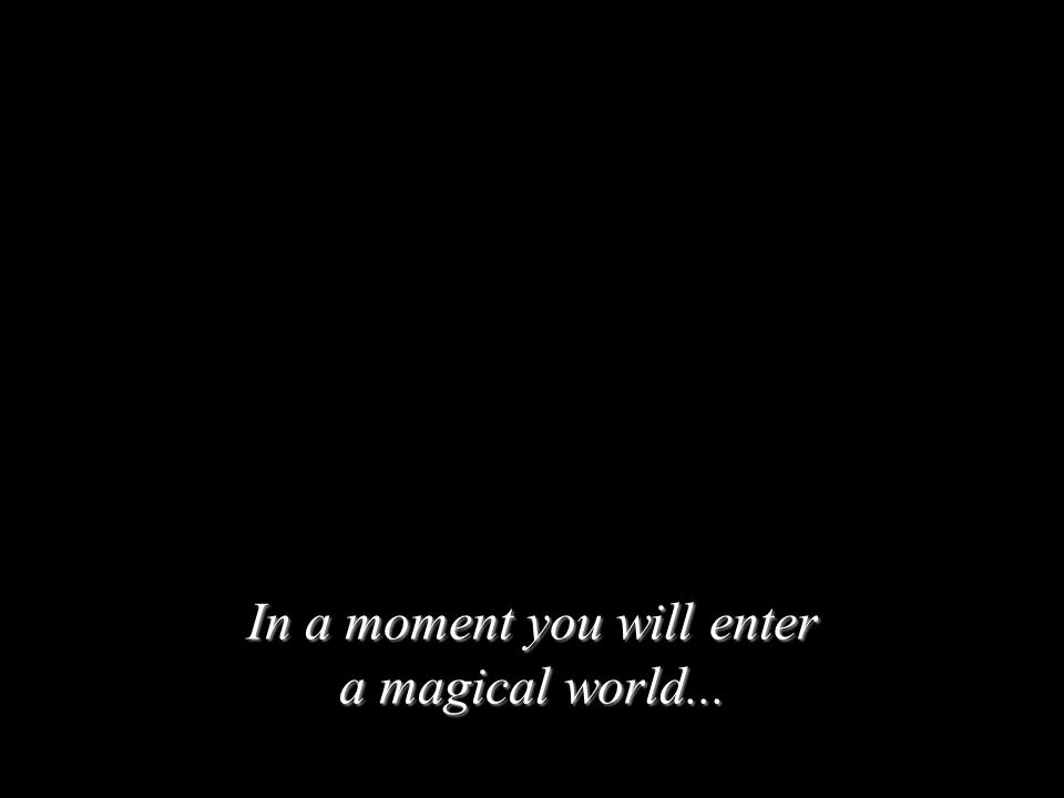In a moment you will enter a magical world...