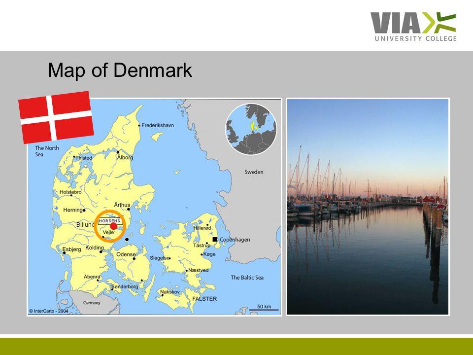 VIAUC.DK Map of Denmark Billund