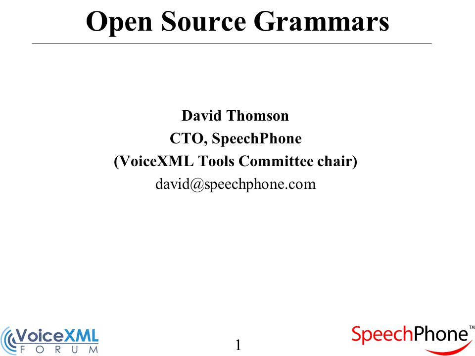 12 Existing Grammars RDC Tag Library Voxeo Nuance VoiceXML 2.0 Others…