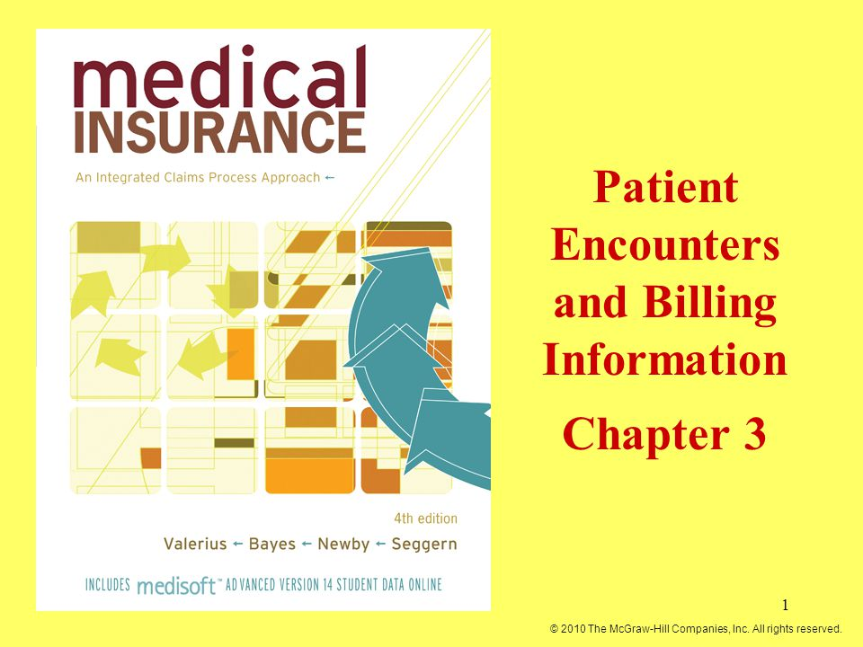 1 Patient Encounters and Billing Information Chapter 3 © 2010 The McGraw-Hill Companies, Inc. All rights reserved.