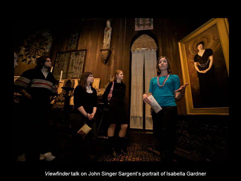 Viewfinder talk on John Singer Sargents portrait of Isabella Gardner