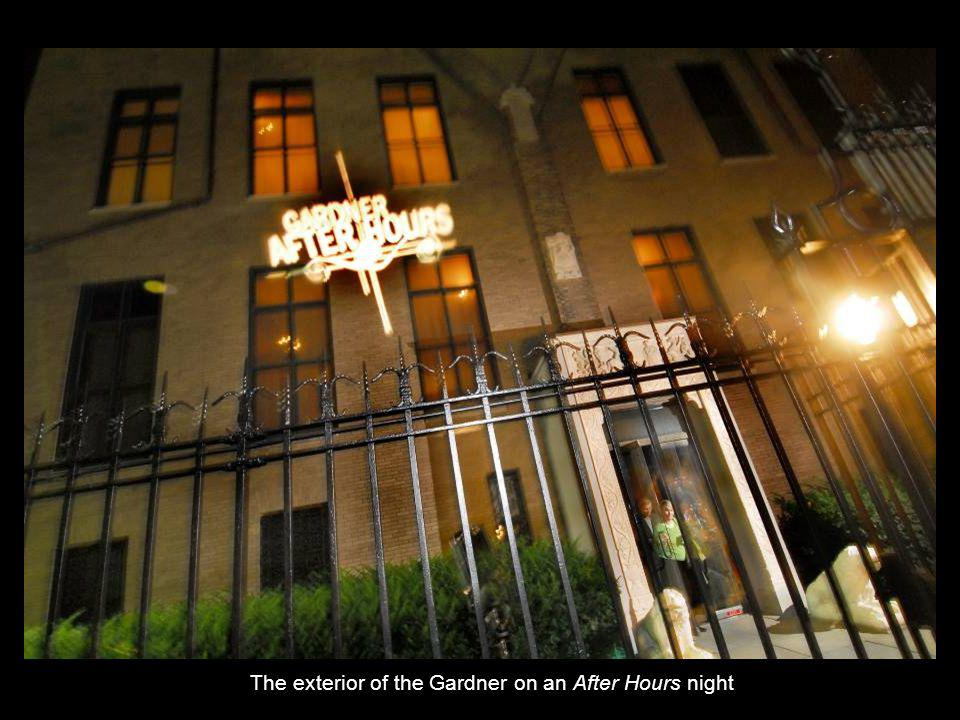 The exterior of the Gardner on an After Hours night