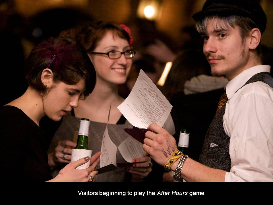Visitors beginning to play the After Hours game