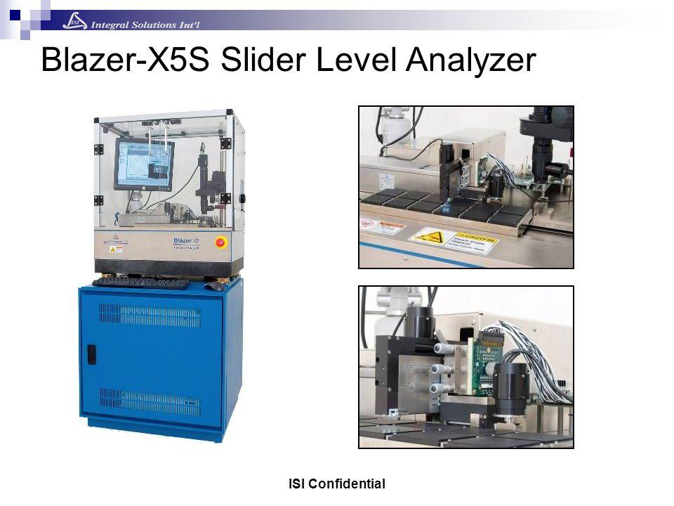 ISI Confidential Blazer-X5S Slider Level Analyzer