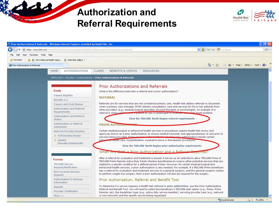 Authorization and Referral Requirements